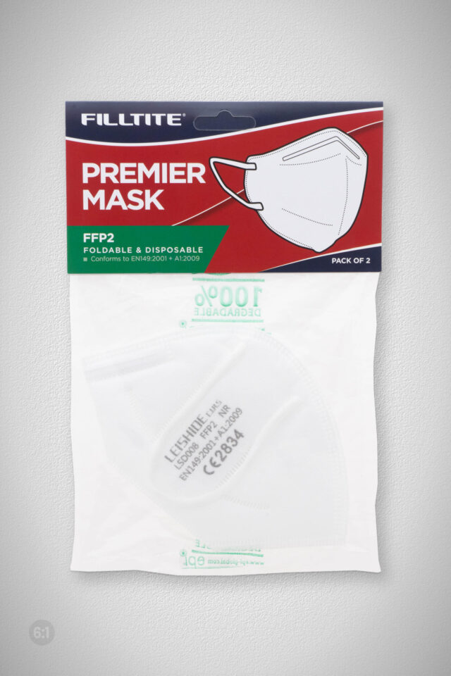 Filltite Premier Foldable Face Mask FFP2